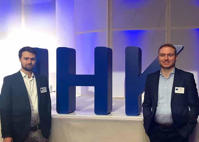Sebastian Wissig und Marcel Krieb beim IHK-Jahresempfang 2019