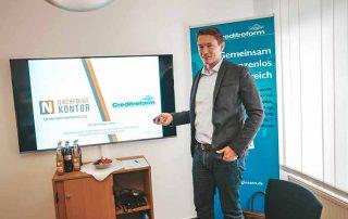 Unternehmensverkauf: Julian Will beim Seminar der Creditreform