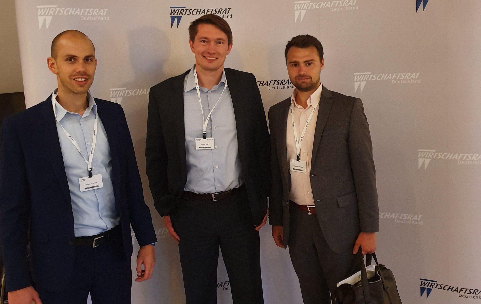 Sonntag CF und Nachfolgekontor beim Wirtschaftstag in Berlin - Fabian Schmidt, Julian Will und Sebastian Wissig